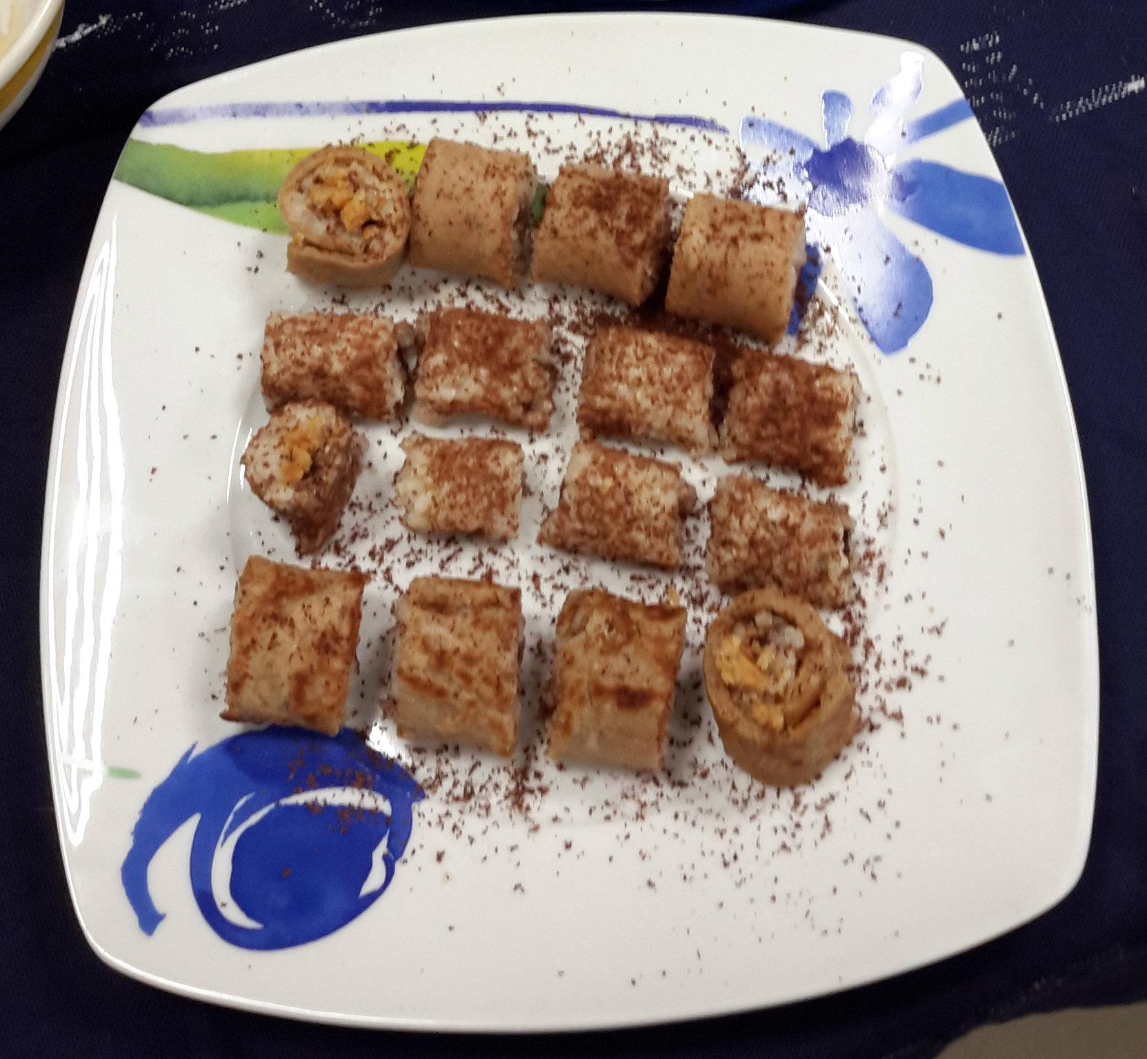 makis dulces arroz con leche de coco