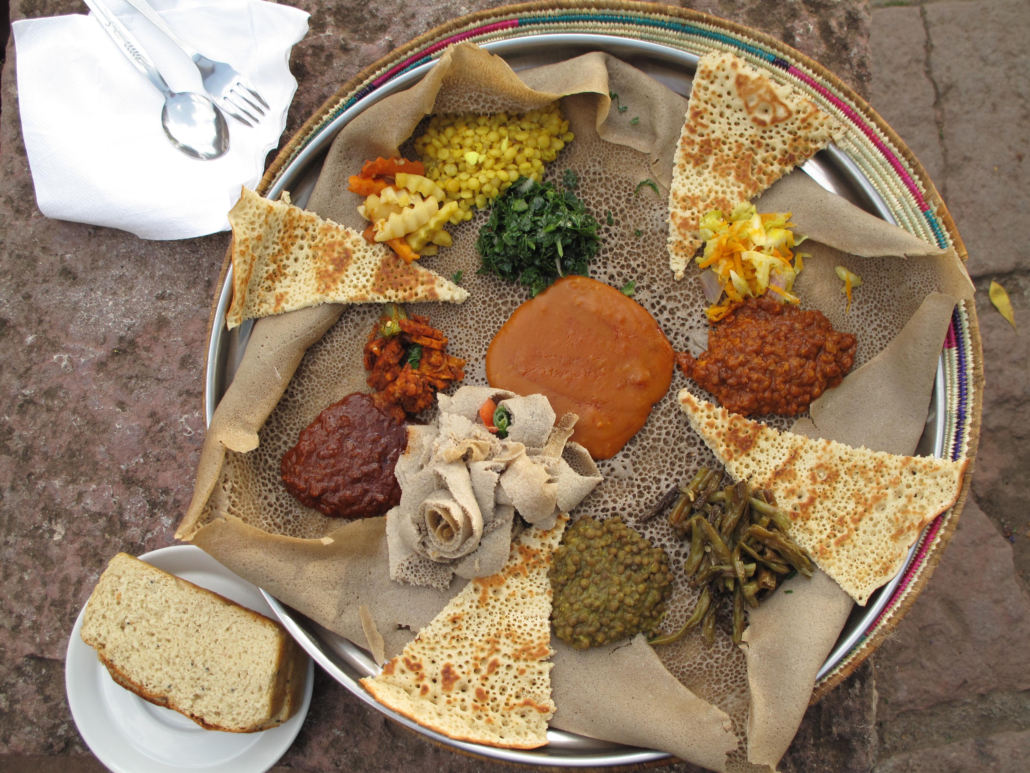 Injera Etiopía fermentados africanos